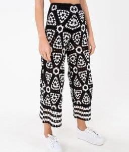 Siyah Beyaz Örgü Elbise - Pantolon Modeli 3