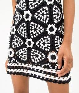Siyah Beyaz Örgü Elbise - Pantolon Modeli 7