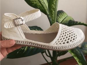 Tığ İşi Sandalet Yapımı