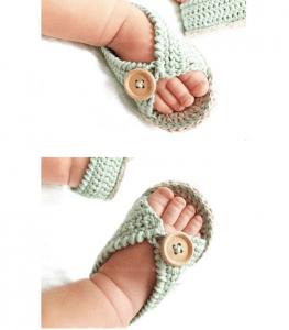 Anlatımlı Bebek Sandalet Yapımı 13