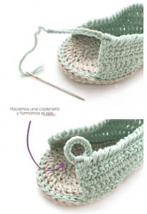 Anlatımlı Bebek Sandalet Yapımı 8