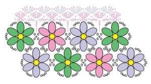 Çiçekli Paspas Yapımı 3