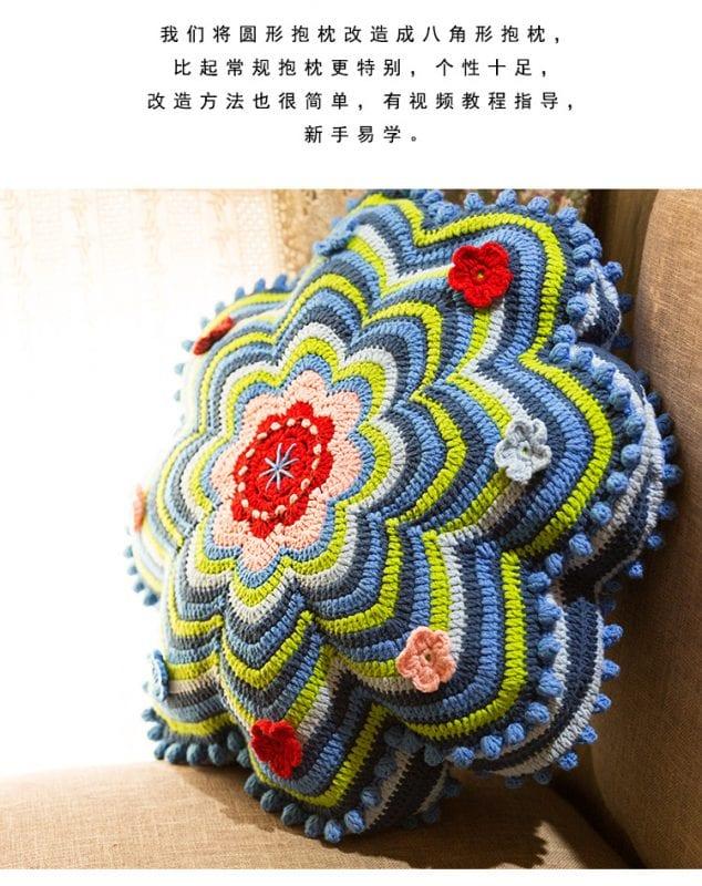 Dekoratif Çiçek Yastık Yapılışı 10