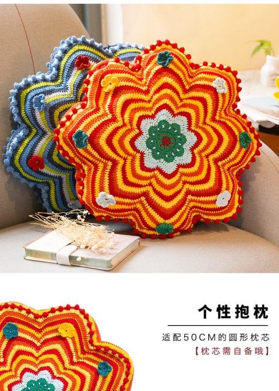 Dekoratif Çiçek Yastık Yapılışı 11