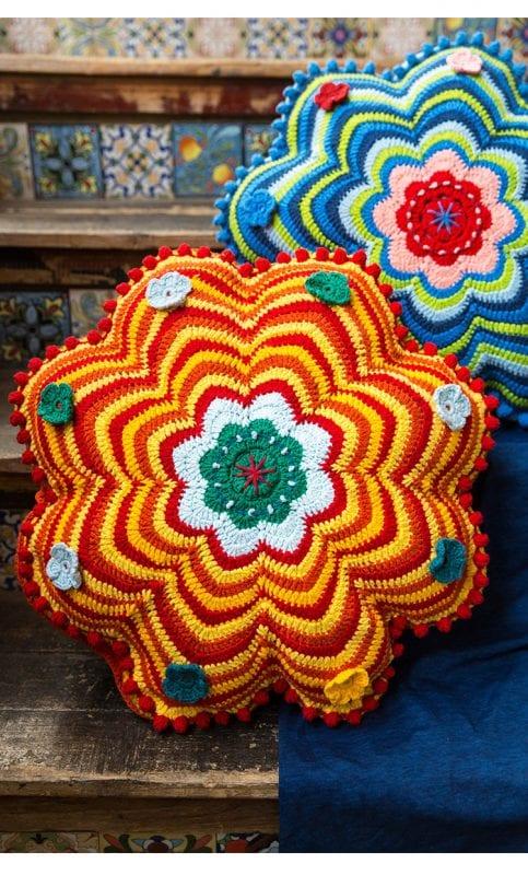 Dekoratif Çiçek Yastık Yapılışı 13