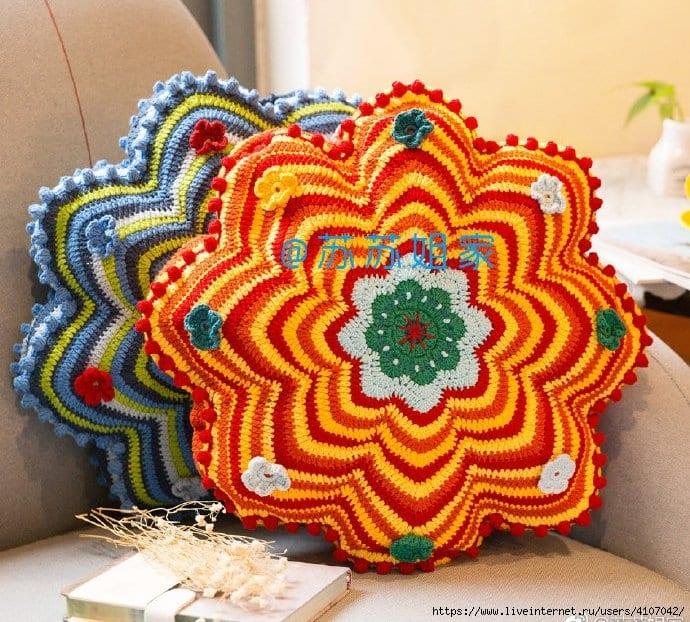 Dekoratif Çiçek Yastık Yapılışı