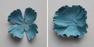 Deri Çiçek Yapımı 12