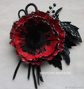 Deri Çiçek Yapımı 14