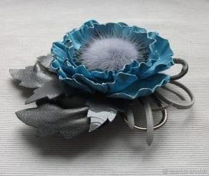 Deri Çiçek Yapımı 15
