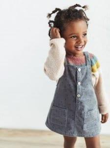 Kız Çocuk Kadife Elbise Dikimi 1