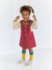 Kız Çocuk Kadife Elbise Dikimi