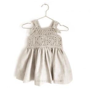 Üstü Örgü Altı Kumaş Elbise Modelleri