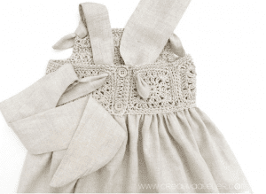 Üstü Örgü Altı Kumaş Elbise Modelleri 1