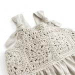 Üstü Örgü Altı Kumaş Elbise Modelleri 20