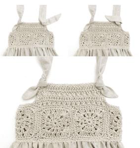 Üstü Örgü Altı Kumaş Elbise Modelleri 21