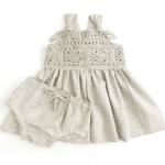 Üstü Örgü Altı Kumaş Elbise Modelleri 7