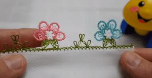 İğne Oyası Sık İğneli Çiçek Modeli 1