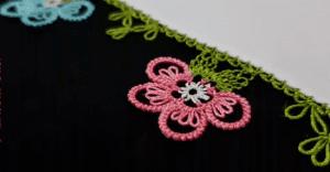 İğne Oyası Sık İğneli Çiçek Modeli