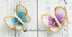 Üç Boyutlu Örgü Kelebek Yapımı 1