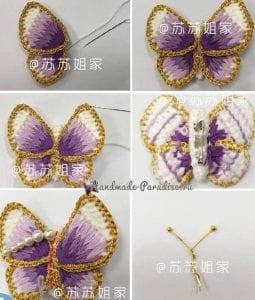 Üç Boyutlu Örgü Kelebek Yapımı 7