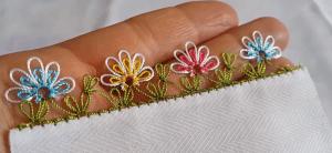 İğne Oyası İç İçe Pırpır Çiçek Modeli Yapımı