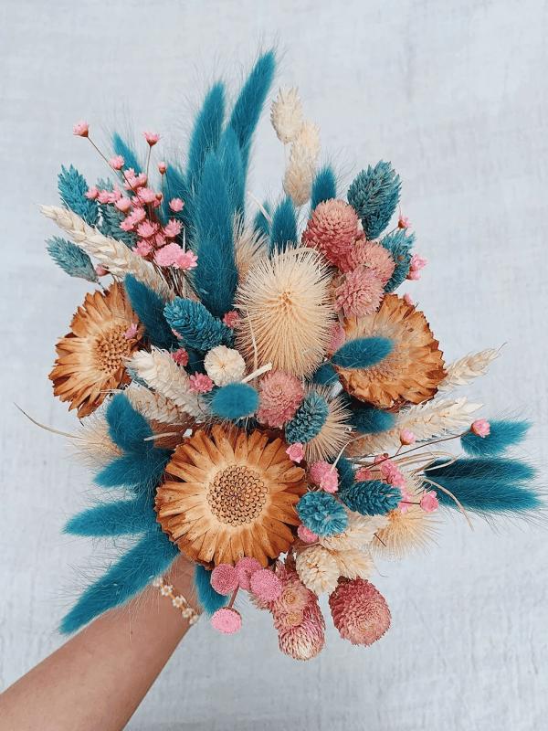 Kuru Çiçek Buketi Yapımı 13