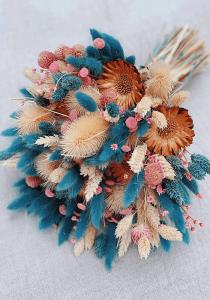 Kuru Çiçek Buketi Yapımı 15