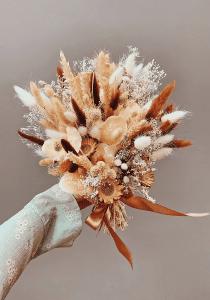 Kuru Çiçek Buketi Yapımı 16