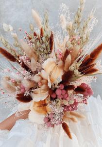 Kuru Çiçek Buketi Yapımı 19
