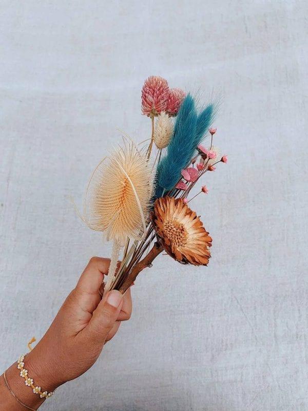 Kuru Çiçek Buketi Yapımı 8