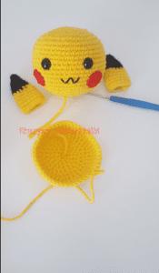 Amigurumi Pikachu Yapımı Türkçe 4