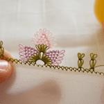 İğne Oyası Kanatlı Çiçek Yapımı