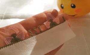 İğne Oyası Kanatlı Çiçek Yapımı 1
