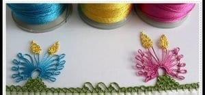 Kelebek Çiçeği İğne Oyası Modeli Yapımı