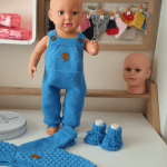 Örgü Bebek Bahçıvan Pantolonları 1