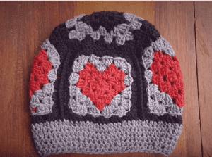 Örgü Kalp Motif Yapımı 2