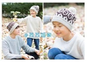 Şiş Örgü Şapka Modelleri 10