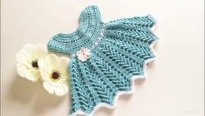 Tığ İşi Bebek Elbisesi Örgü Modeli