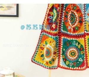 En Güzel Battaniye Örgü Modelleri 9