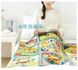 En Güzel Battaniye Örgü Modelleri 14