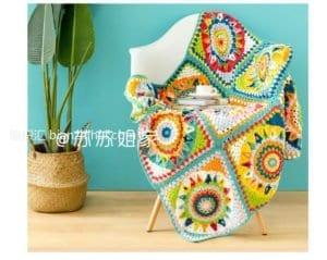 En Güzel Battaniye Örgü Modelleri 4