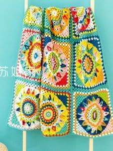 En Güzel Battaniye Örgü Modelleri 8