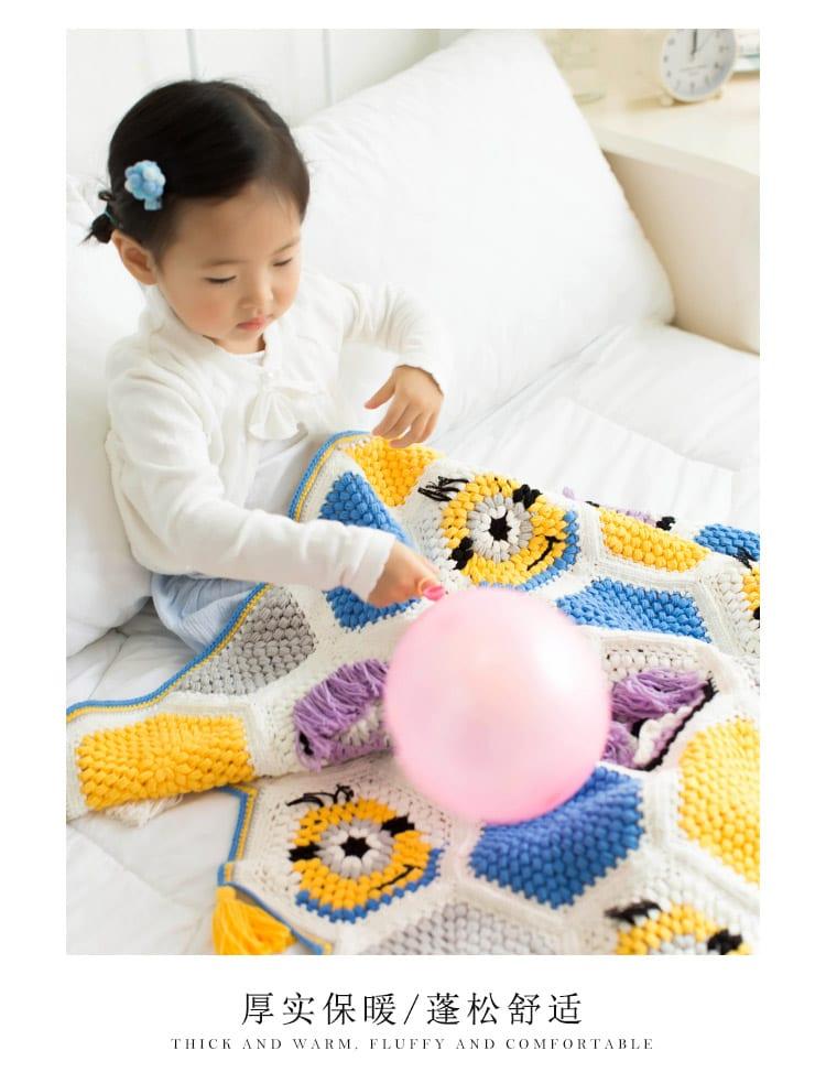 Örgü Bebek Battaniye Modelleri Yapılışı 3