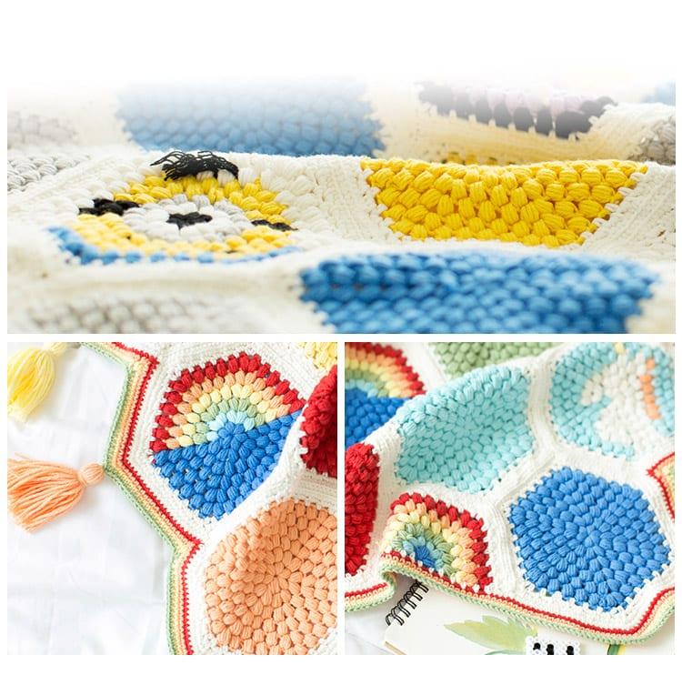 Örgü Bebek Battaniye Modelleri Yapılışı 16