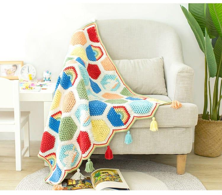 Örgü Bebek Battaniye Modelleri Yapılışı 26