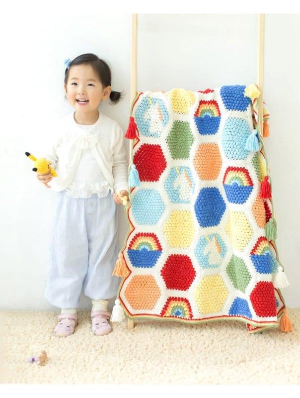 Örgü Bebek Battaniye Modelleri Yapılışı 27