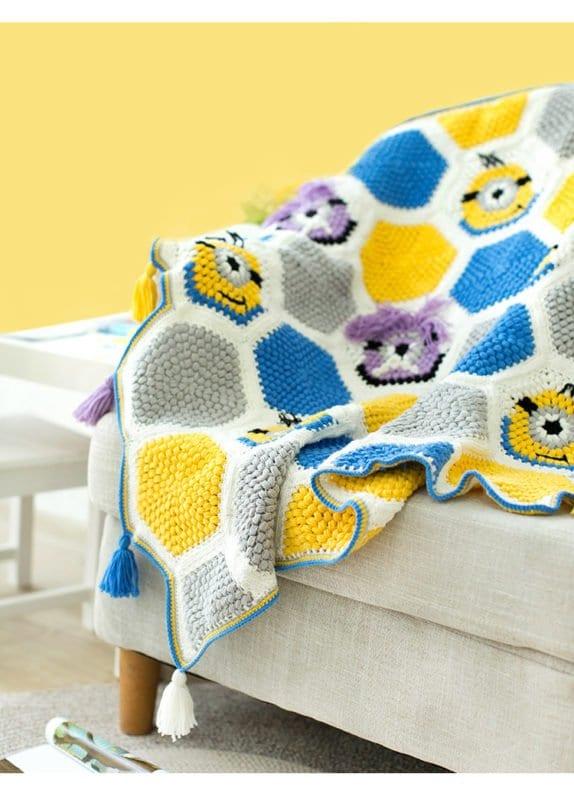 Örgü Bebek Battaniye Modelleri Yapılışı 6