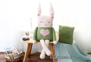 Örgü Tavşan Yapımı Resimli Anlatım