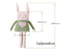 Örgü Tavşan Yapımı Resimli Anlatım 2
