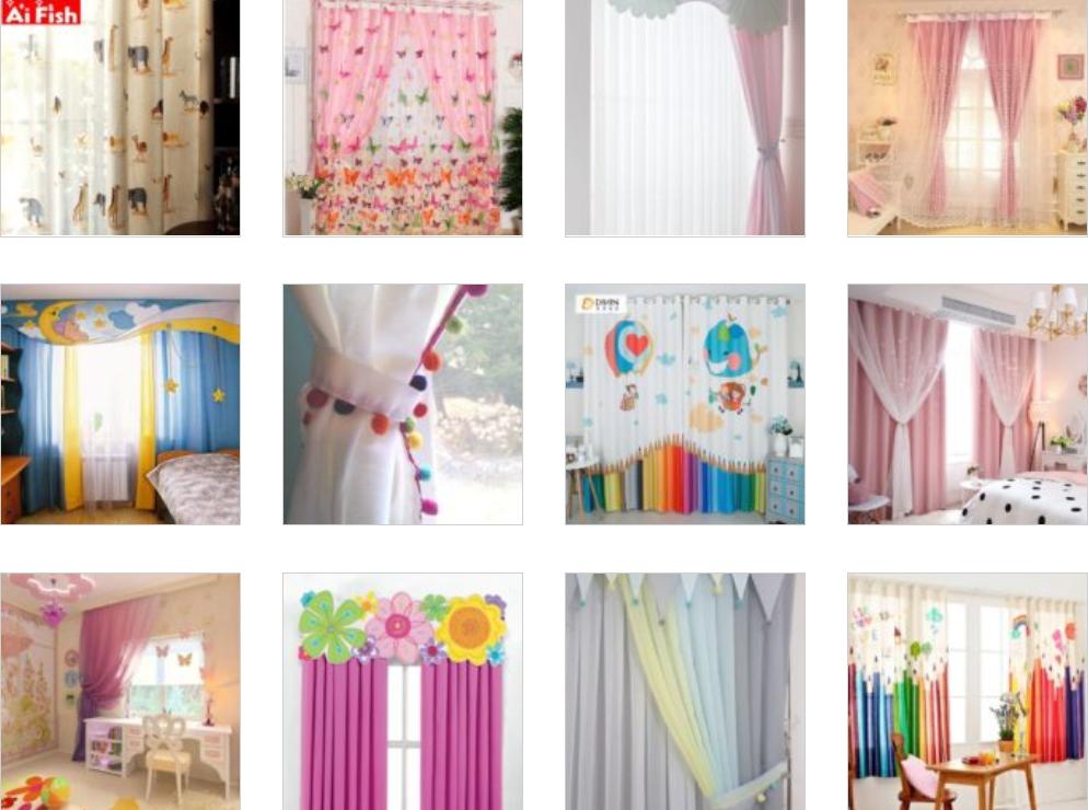 Bebek Odası Perdeleri ve Fon Çeşitleri 61